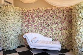 southern california wedding karen tran u0027s floral wall served as a