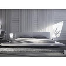 design bett polster bett 200 x 200 cm weiß aus kunstleder mit integrierten