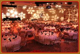 decorating a christmas banquet at the westin bayshore vancouver bc