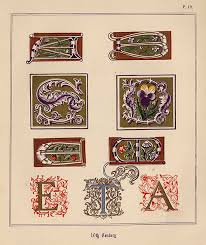 free clip art and digital collage sheet medieval letters magic