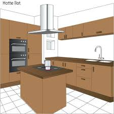 hotte ilot cuisine hotte de cuisine en angle hotte ilot prix et mod les ooreka hotte
