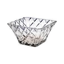 amazon com mikasa crystal 10 inch diamond sparkle square bowl