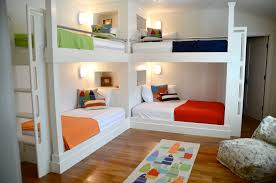 Plans For Building Triple Bunk Beds by Splashy L Shaped Bunk Beds In Kids Traditional With Triple Bunk
