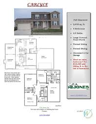 ca jones inc country club hills floor plans traditional line
