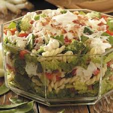 cold pasta salad dressing layered summertime salad recipe taste of home