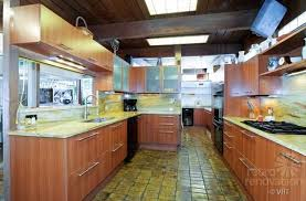 Terracotta Floor Tile Kitchen - 1952 time capsule house with luscious original terracotta floors