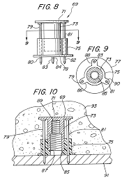 patent us6240697 threaded anchor for poured concrete metal deck