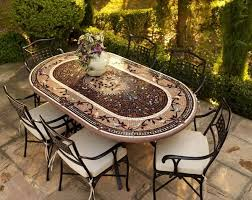 Tile Top Patio Table Outdoor Tile Top Patio Dining Table And Cast Iron Chairs Patio