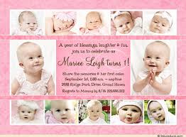 birthday invitation sweet memories collage of photos pink