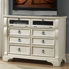 tv stands for bedroom dressers heirloom wood media dresser tv stand in antique white humble abode