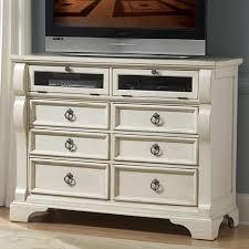 Bedroom Dresser Tv Stand Heirloom Wood Media Dresser Tv Stand In Antique White Humble Abode