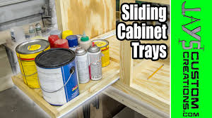 Pull Out Shelves Kitchen Cabinets Easy Diy Slide Out Cabinet Trays 167 Youtube