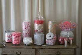 Pink Wedding Candy Buffet by Candy Buffets