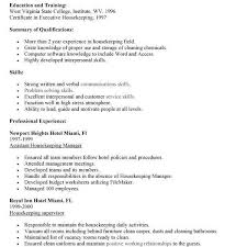House Cleaning Resume Examples Resume Housekeeper Unforgettable Housekeeper Resume Examples To