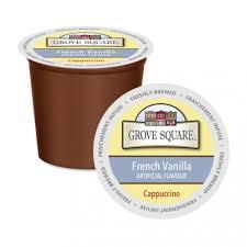 cappuccino grove square french vanilla single serve cappuccino 24 pack ecs