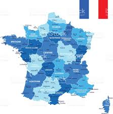 france map and flag illustration stock vector art 474815510 istock