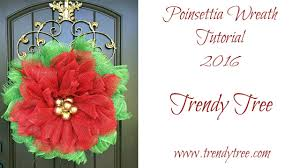 2016 poinsettia wreath tutorial by trendy tree