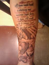 quote heaven tattoo design on calf http heledis com various
