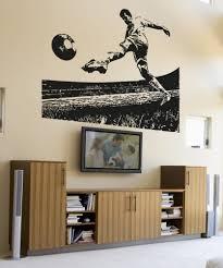 vinyl wall decal sticker soccer field kick 5073