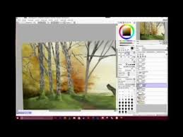 how to draw a tree paint tool sai youtube