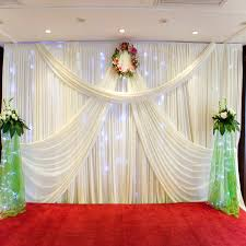 wedding backdrop online online shop 2017 new design mandap 3 6 wedding curtain drapery for