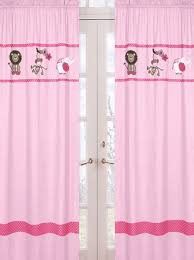 Jungle Curtains For Nursery Jungle Animal Curtains In Pink And Green For A S Jungle