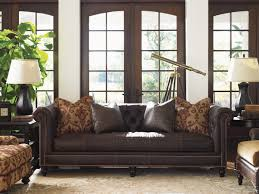 Leather Furniture Island Traditions Manchester Leather Sofa Lexington Home Brands