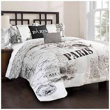 exclusive paris themed bedding twin size m78 on home decor
