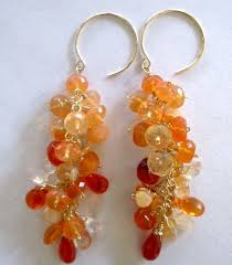 mexican fire opal 18 mexican fire opal earrings 9k mexican fire opal gold earrings