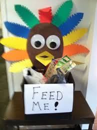 box to collect food during thanksgiving food drive community