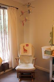 Nursery Room Rocking Chair baby room idea using white rustic glider rocking chair designed