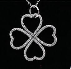 clover leaf necklace images Four leaf pendants clover necklaces compatible with pandora jpg