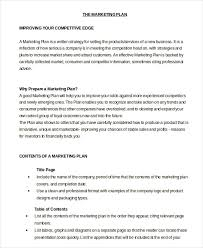 professional marketing plan template 100 images 6 steps to a