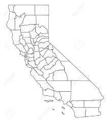 Map Of Calif Detailed Vector Map Of California Royalty Free Cliparts Vectors