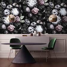 dark floral wallpapers