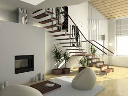 excellent interior ultra modern house design with stairway and big