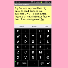 large key keyboards for android big buttons keyboard deluxe appstore for android