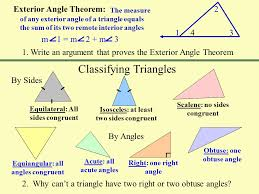 Measures Of Interior Angles Triangles The Sum Of The Measures Of The Angles Of A Triangle Is