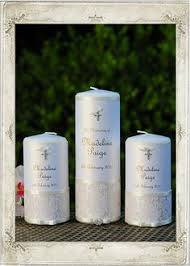 Personalize Candles Christening Candle With Pearl Cross Babybeauandbelle