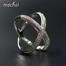 double rings jewelry images Brand design simple modern double circle crossed rings aaa cubic jpg