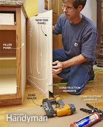 how to install cabinet filler panels cabinet refacing kitchens house and resurfacing cabinets
