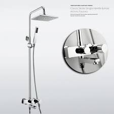 Bathroom Shower Valves Outstanding Curved Neck Tub And Shower Faucet Chrome Contemporary