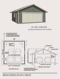 22x22 2 Car 2 Door Detached Garage Plans by Apartments 2 Car Garage Plans Plans For 2 Car Garage 2 Car Garage