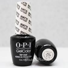 opi gelcolor nail polish o31 matte top coat ebay