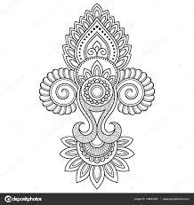 mit blume vorlage tattoo hennatattoo blume vorlage im indischen