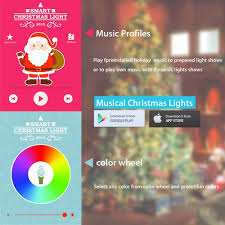 Colored Christmas Lights by Amazon Com Airgoo Led Colored Christmas Tree Lights Smartphone