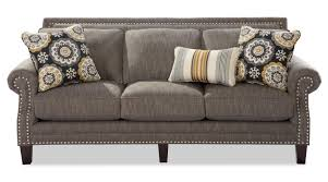 Transitional Sofas Furniture Transitional Sofa With Pewter Nailheads By Craftmaster Wolf And