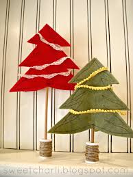 pottery barn inspired 3d felt christmas trees sweet charli
