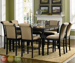 Black Dining Room Furniture Sets Home Design Ideas - Dining room table with hidden chairs