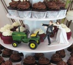 deere cake toppers wedding cake topper deere green tractor themed w bridal